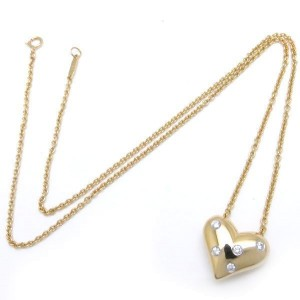 Tiffany & Co. 18K Yellow Gold and Platinum with Diamond Necklace