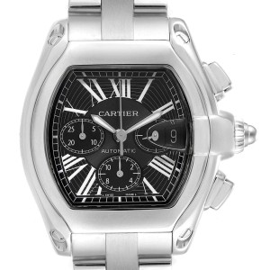 Cartier Roadster XL Chrono Black Dial Automatic Mens Watch W62020X6