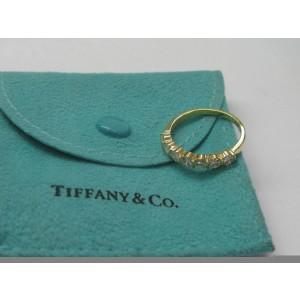 Tiffany & Co 18KT 7-Diamond Bar Band Ring Yellow Gold .95Ct