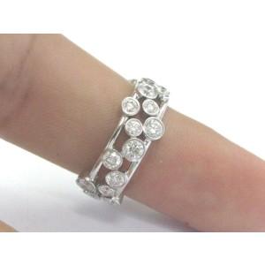 Tiffany & Co Platinum Bubbles NATURAL Diamond Ring 1.20Ct Size 4