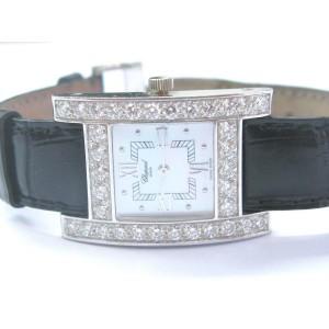 Chopard H Diamond 18k White Gold MOP Ladies Quartz Watch 13/6621