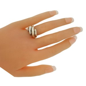 TIFFANY & CO Shrimp ring in sterling silver & yellow gold size 6.5