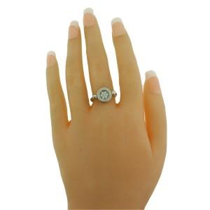 Bvlgari AN850723 diamond & onyx flip ring in 18k white gold