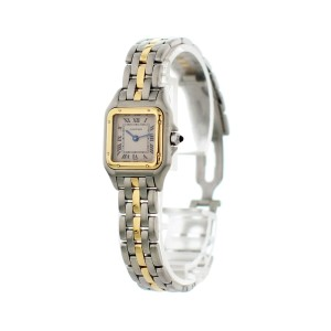 Cartier Panthere Two Tone 18k Yellow Gold 1120 Ladies Watch