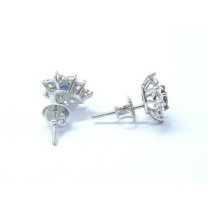 Tiffany & Co Platinum Victoria Blue Sapphire Diamond Earrings 1.63CT