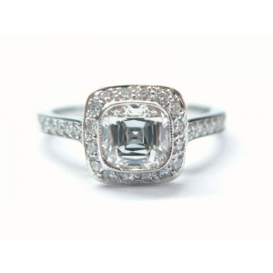 Tiffany & Co Platinum Legacy Diamond Ring 1.58Ct H-VS2 T&CO CERTIFICATE+BOXES