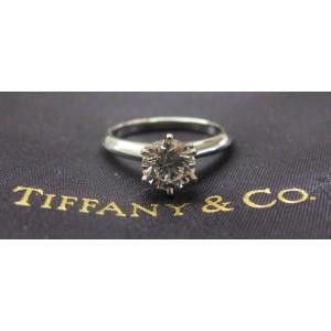 Tiffany & Co Platinum Round Diamond Solitaire Engagement Ring 1.09CT G-VVS2