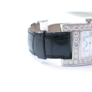 Chopard H Diamond 18k White Gold MOP Ladies Quartz Watch 13/6621
