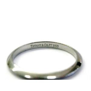 Tiffany & Co Platinum Wedding Band Ring 2mm Size 6.5