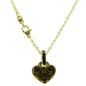 Judith Ripka diamond & canary quartz necklace in 14K yellow gold.