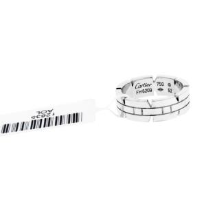 Cartier 18 Karat white gold Tank Francais band ring size 52, US 6.25