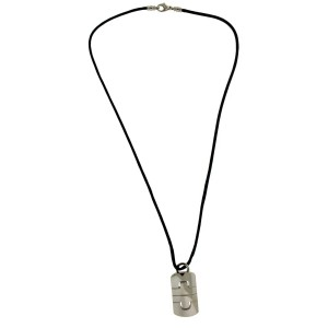 Bvlgari large Parentesi necklace in 18k white gold 20 inches long