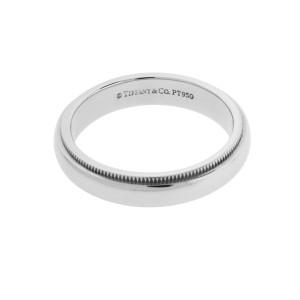 TIFFANY & CO 4 mm milgrain wedding band in platinum 6
