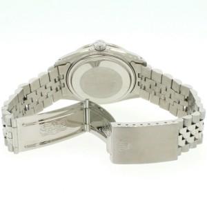 Rolex Datejust Steel 36mm Jubilee Watch Diamond Bezel & Matt Sky Blue Dial