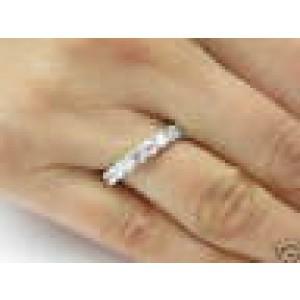 Fine Round Brilliant Diamond White Gold Eternity Ring 14KT 2.30CT