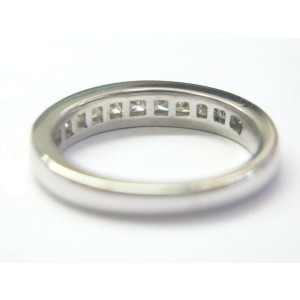 Fine Princess Cut Diamond Wedding Band Ring White Gold 1.10Ct