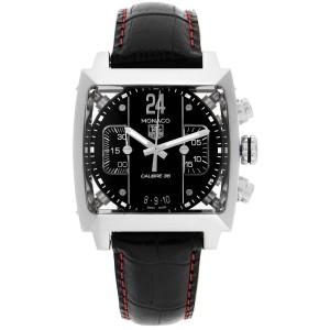 Tag Heuer Monaco 24 Black Dial Chronograph Mens Watch CAL5113