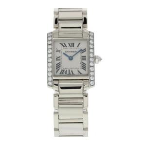 Cartier Tank Francaise 2403 18k White Gold & Diamonds