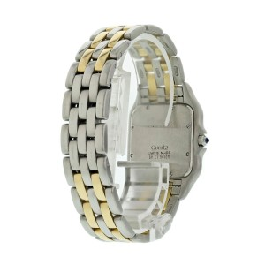 Large Cartier Panthere 8395 18K Yellow Gold Stainless Steel Watch