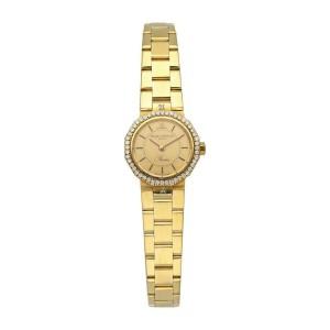 Baume & Mercier 18k Yellow Gold & Diamond Bezel Ladies Watch