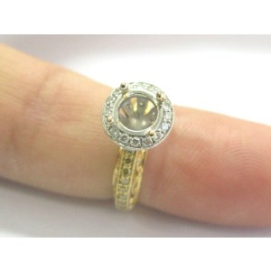 Two-Tone Diamond Semi Mount Ring .54Ct ( center fits a 6mm )