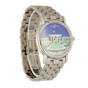 Ulysse Nardin San Marco 130-77-9 Cloisonne Dial 18K White Gold Watch