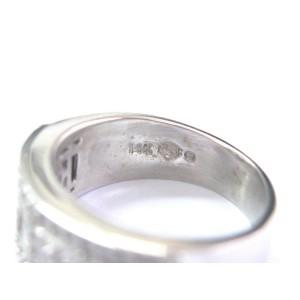 Fine Princess & Round Cut Diamond White Gold Milgrain Jewelry Ring 1.00Ct