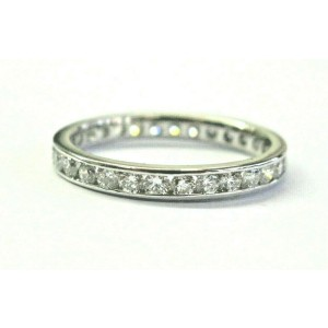 Round Diamond Channel Set Eternity Band Platinum 950 29-Stones 1.00ct Size 6.5