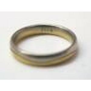 Fine 18KT/Platinum 4mm Wedding Band Size 9
