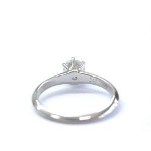 Tiffany & Co Platinum Round Diamond Solitaire Engagement Ring H-VS1 .60CT