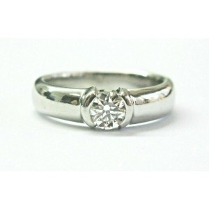 Tiffany & Co Platinum Etoile Diamond Engagement Ring .55Ct G-VVS2