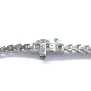 "Fine Round Cut Diamond White Gold 3-Prong Tennis Bracelet 57-Stones 7"" 2.00Ct"