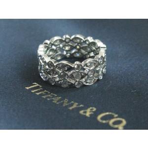 Tiffany & Co Platinum Swing 3-Row Diamond Ring Size 4.5