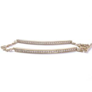 "Erica Courtney 18Kt Rose Gold Diamond Bar Bracelet 2.20Ct 7.25"""