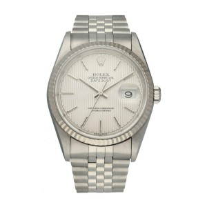 Rolex Oyster Perpetual Datejust 16234 Tapestry Dial Mens Watch