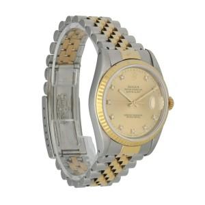 Rolex Datejust 16233 Diamond Dial Men's Watch