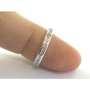 Tiffany & Co PLATINUM Diamond Channel Set Eternity Band Size 4.5 2.8mm