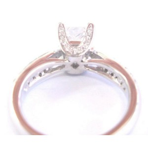 Platinum Princess & Round Cut Diamond Engagement Ring 1.09Ct H-VVS2