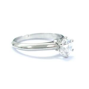 Tiffany & Co Platinum Round Diamond Solitaire Engagement Ring D-VS1 .78CT