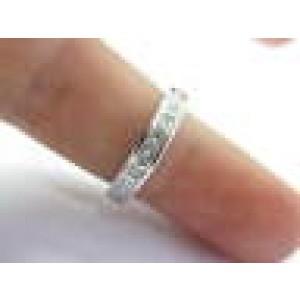 Fine Princess Cut Diamond Wedding Band Ring White Gold 1.10Ct
