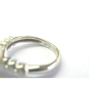 Pearl & Diamond Ring 18Kt White Gold .20Ct 7.66mm