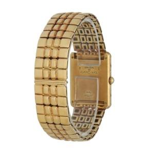 Cartier Tank Louis 18K Yellow Gold Diamond Bezel Ladies Watch