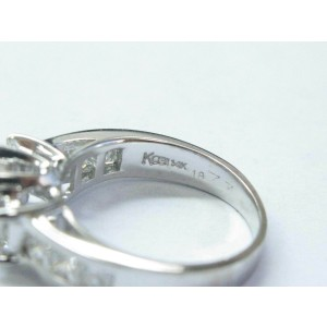 Emerald & Princess Cut NATURAL Diamond Engagement Three-Stone Ring 2.00CT 14kt