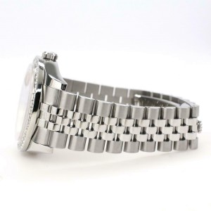 Rolex Datejust 116200 36mm 2.0ct Diamond Bezel/Champagne Arabic Dial Steel Watch
