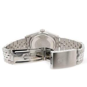 Rolex Datejust 36mm White Gold Bezel/Blue Diamond Dial Steel Jubilee Watch