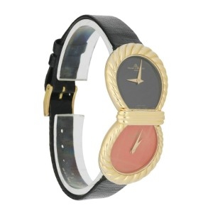 Baume & Mercier Art Deco Stone Dial Two Time zone Ladies Watch