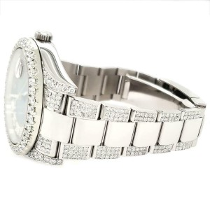 Rolex Datejust II 41mm Diamond Bezel/Lugs/Bracelet/Red MOP Diamond Dial Watch