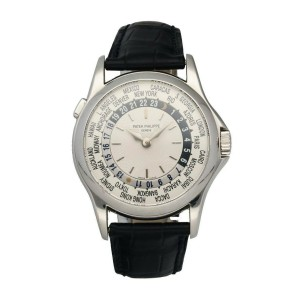 Patek Philippe World Time 5110G-001 18K White Gold Men's Watch Box & Papers