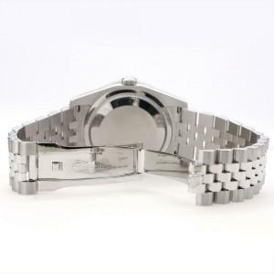 Rolex Datejust 116200 36mm 2ct Diamond Bezel/Navy Blue Diamond Roman Dial Watch