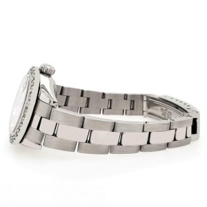 Rolex Datejust 26mm Steel Watch 1.3ct Diamond Bezel/Sangria Purple Diamond Dial